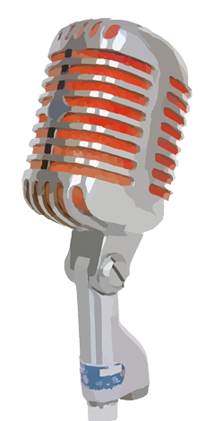 image of a microphone that represents your brand's voice