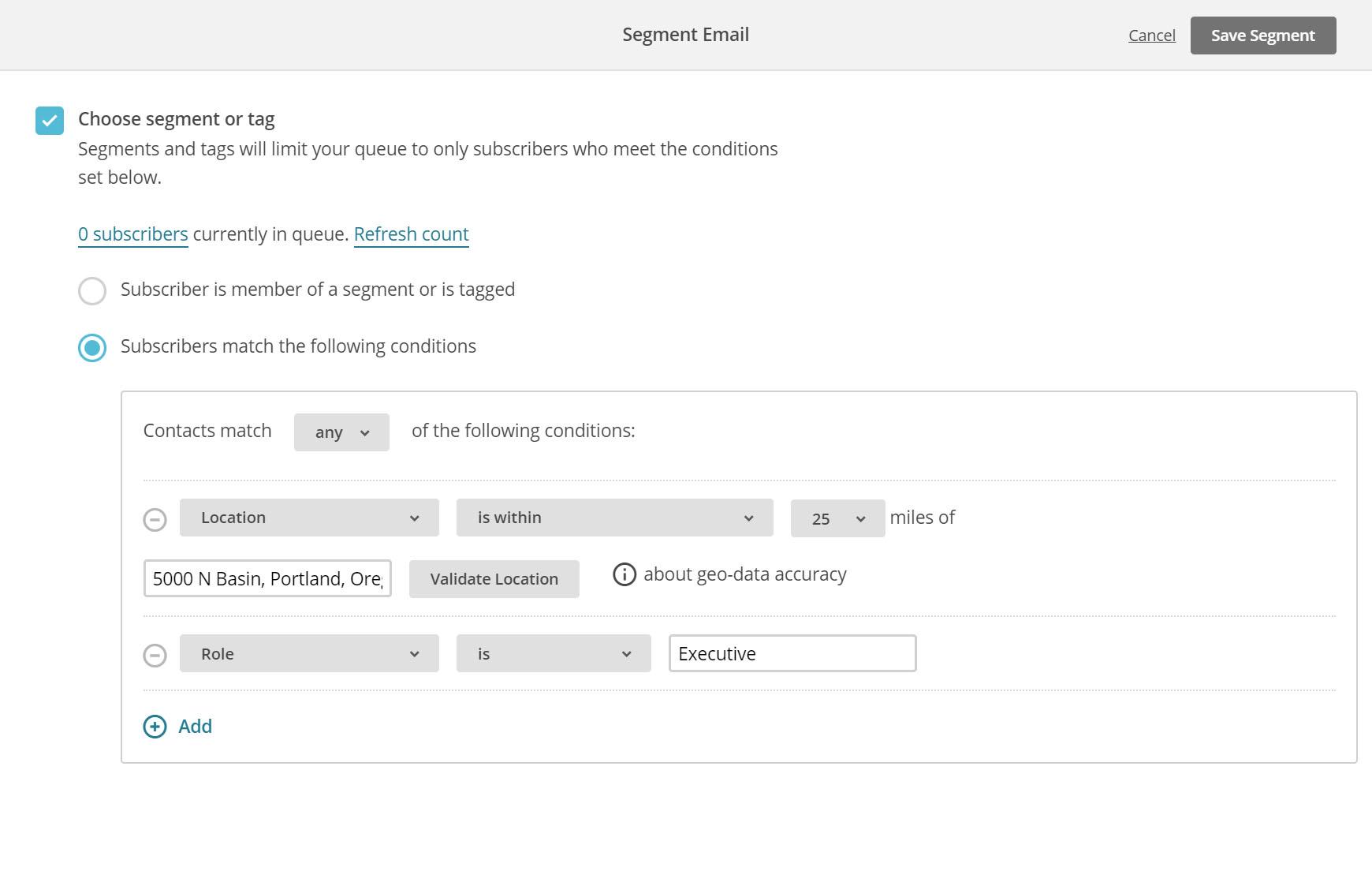 MailChimp marketing automation segmentation capabilities
