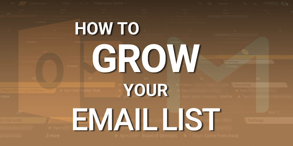 How to grow your email marketing list